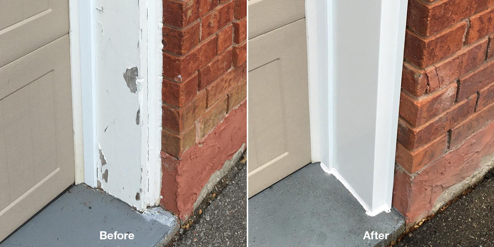 Garage Door Siding & Capping near Toronto, Milton, Oakville, Mississauga
